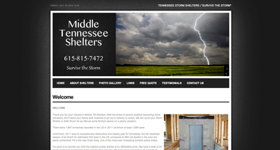 Middle Tennessee Storm Shelters